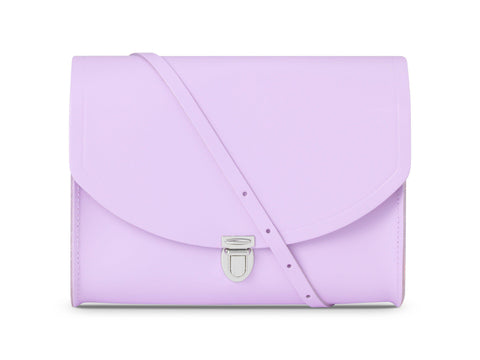 Large Push Lock in Leather - Freesia Purple