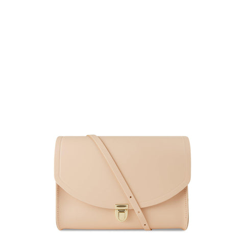 Large Push Lock in Leather - Sunkissed | Cambridge Satchel