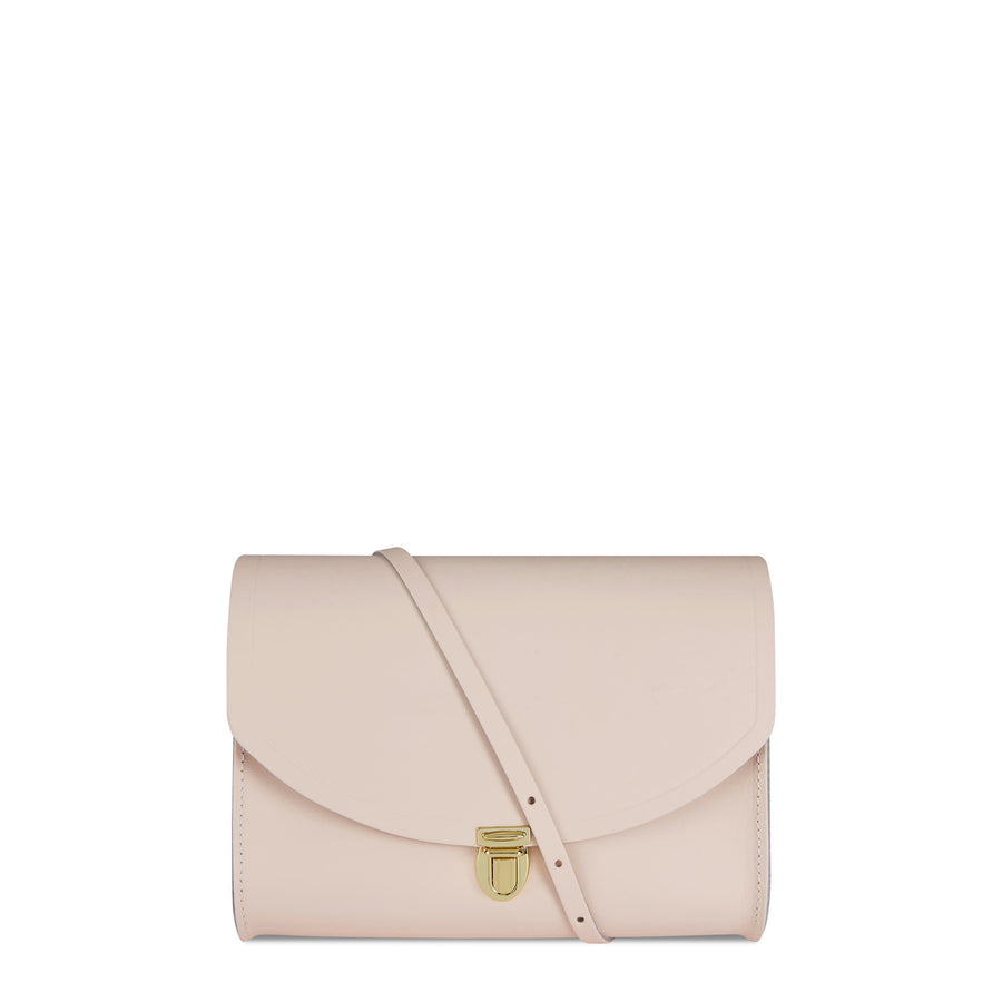 Large Push Lock in Leather - Dreamy Peony Matte