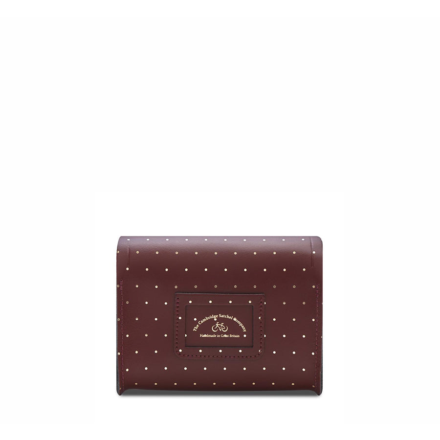 Push Lock in Leather - Gold Dot on Oxblood | Cambridge Satchel