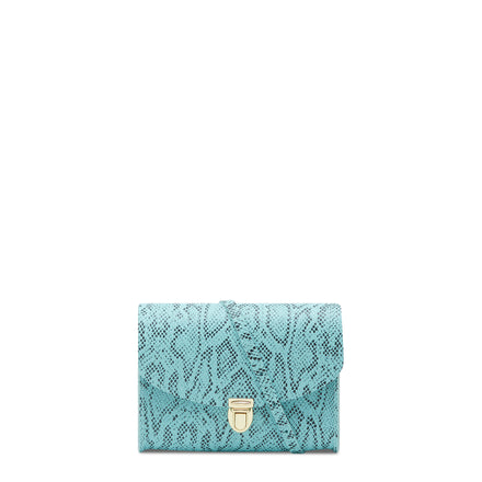 Push Lock in Leather - Cambridge Blue Python Print | Cambridge Satchel