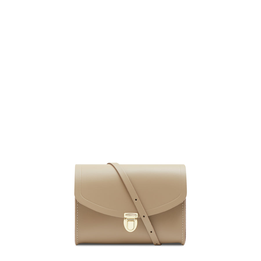 Push Lock in Leather - Sand | Women's Evening Clutch Bag