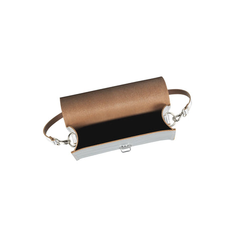 Push Lock in Leather - Silver Borderline