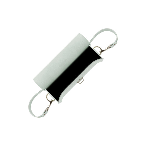 Push Lock in Leather - Matte Eggshell