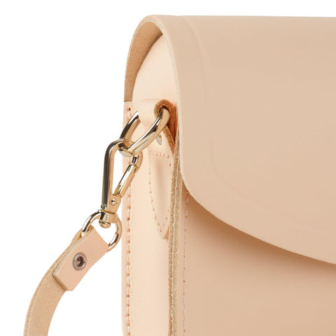 Push Lock in Leather - Sunkissed