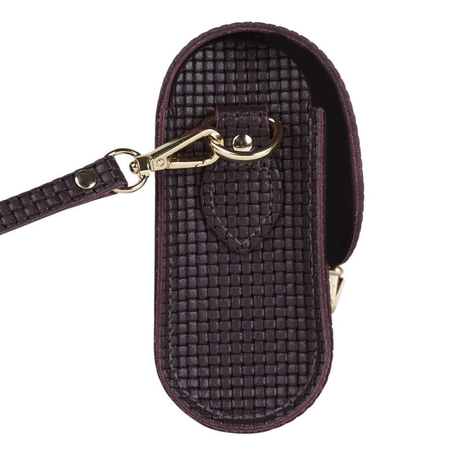 Push Lock in Leather - Juniper Lattice