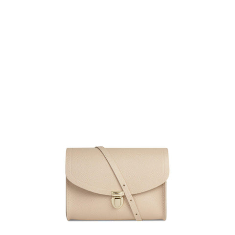 Push Lock in Leather - Sunkissed Matte Saffiano