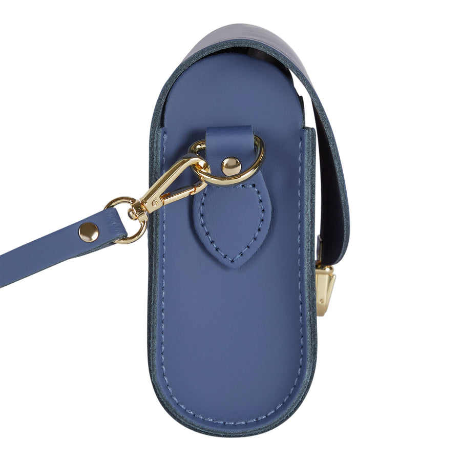 Push Lock in Leather - Italian Blue Matte