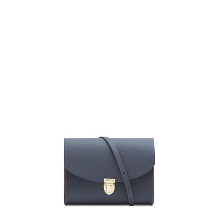 Push Lock in Leather - Storm Matte | Women's Clutch & Cross Body Bag
