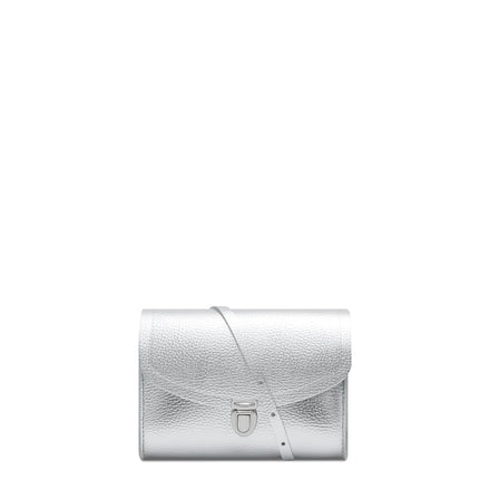 Silver Cambridge Satchel Leather Cross Body & Clutch Bag