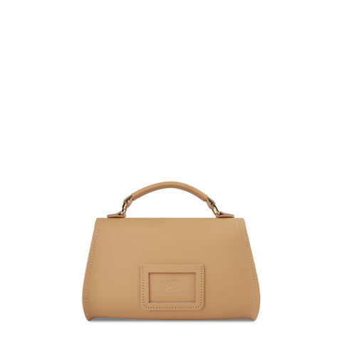 Mini Poppy Bag in Leather - Safari Sand
