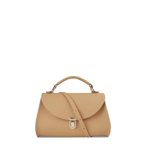 Mini Poppy Bag in Leather - Safari Sand - Cambridge Satchel
