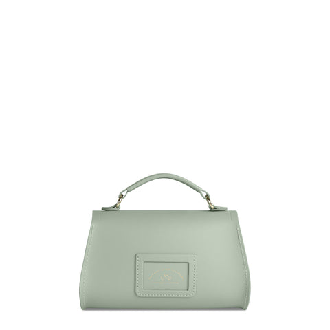 Mini Poppy Bag in Leather - Sabi Green