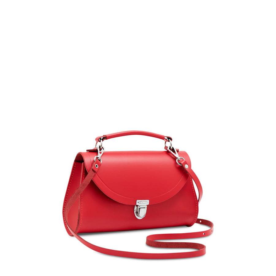 Mini Poppy Bag in Leather - Red Berry
