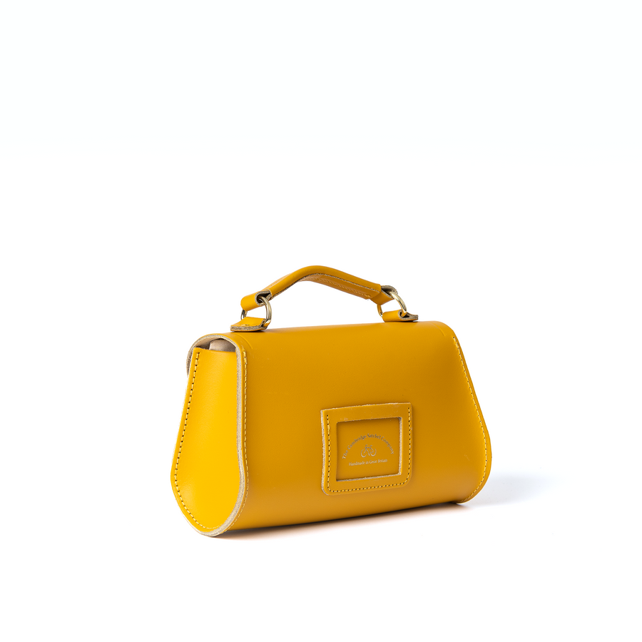 Mini Poppy Bag in Leather - Lemon Curd