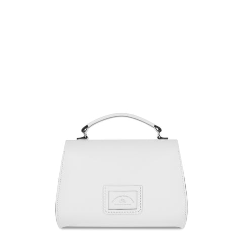 Poppy Bag in Leather - Off White - Cambridge Satchel