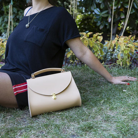 Poppy Bag in Leather - Safari Sand