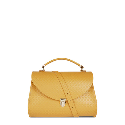 Poppy Bag in Leather - Indian Yellow Matte Quilt | Cambridge Satchel