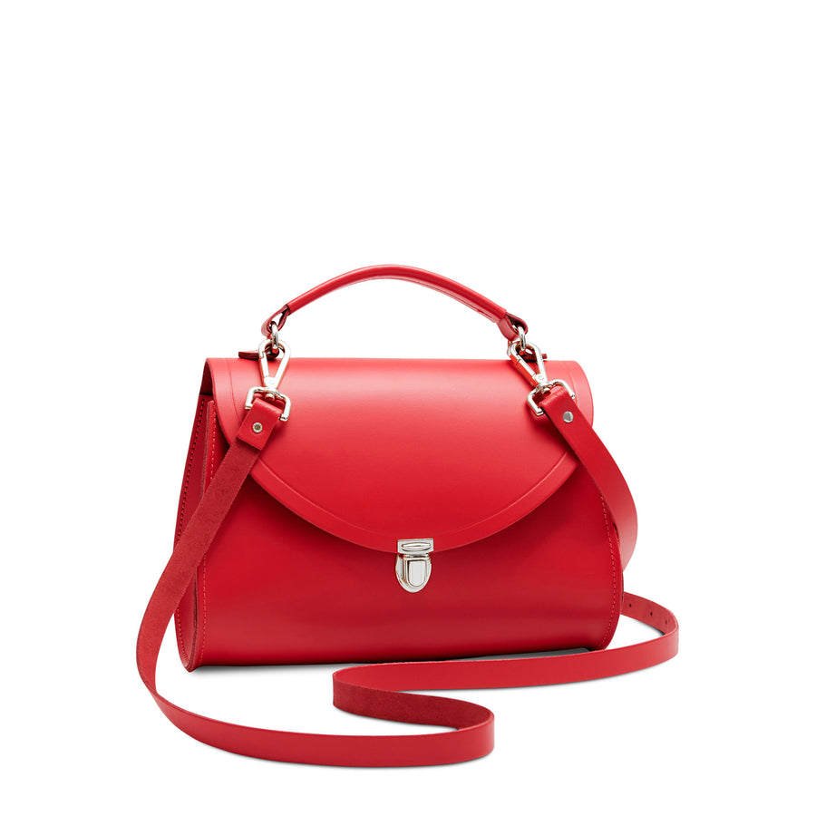 Red Cambridge Satchel Women's Leather Poppy Cross Body Handbag