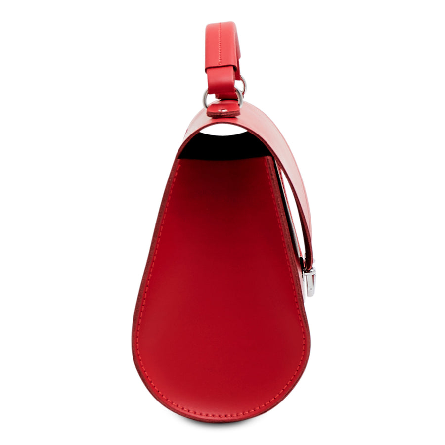 Poppy Bag in Leather - Red Berry