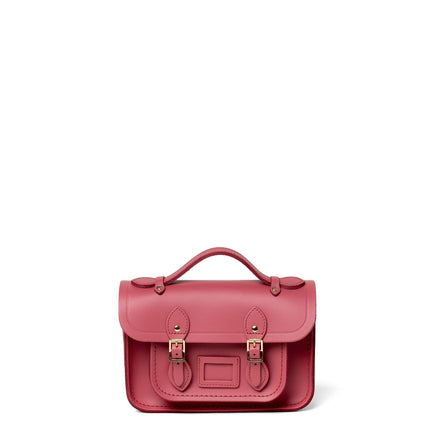Magnetic Mini Satchel in Leather - Peony Blush