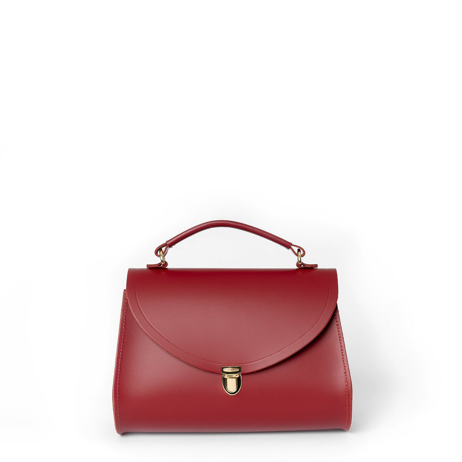 Poppy Bag in Leather - Pillar Box Red