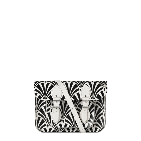 11 inch Magnetic Satchel in Leather - Deco Print
