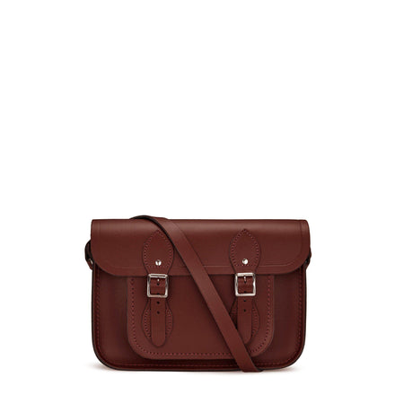 11 inch Classic Satchel in Leather - Oxblood