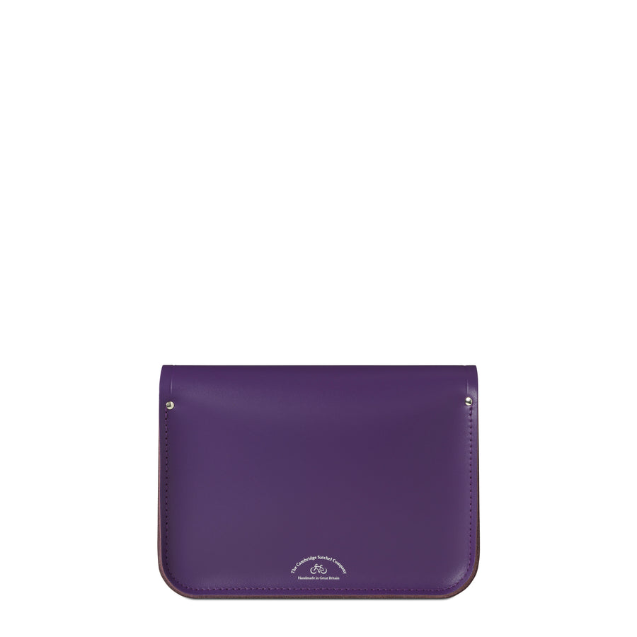 11 inch Magnetic Satchel in Leather - Purple