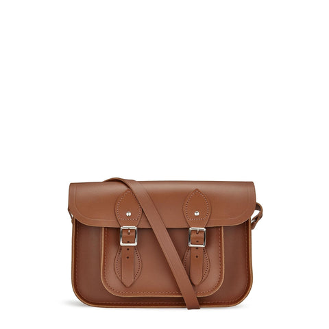 11 inch Classic Satchel in Leather - Vintage