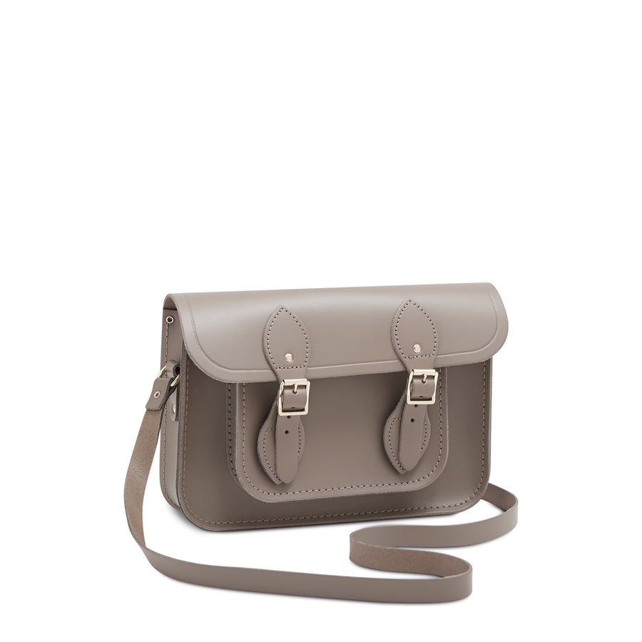 11 inch Magnetic Satchel in Leather - Mink