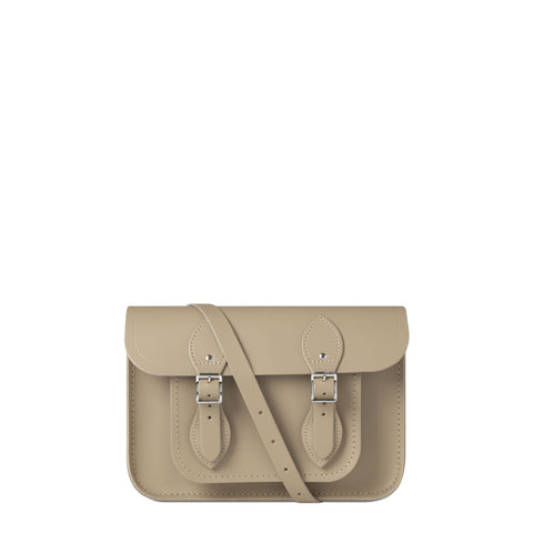 11 inch Magnetic Satchel in Leather - Putty