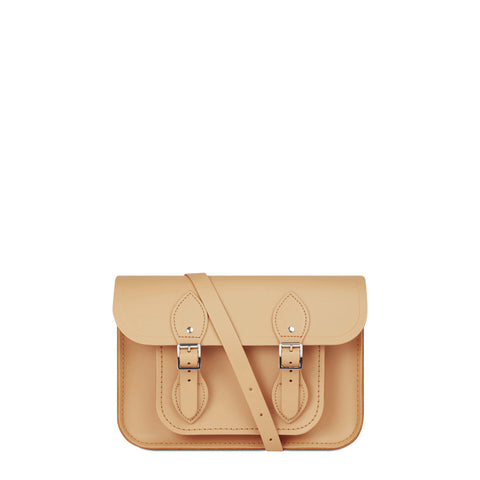 11 inch Magnetic Satchel in Leather - Sand