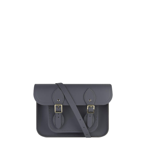 11 Inch Magnetic Satchel in Leather - Dapple Matte