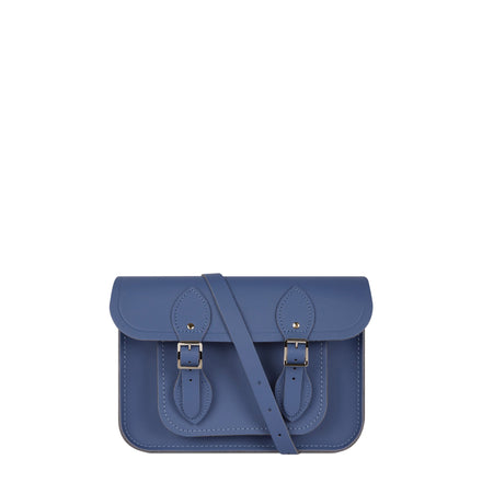 Unisex Blue Leather Satchel Bag for Women and Men | Cambridge Satchel