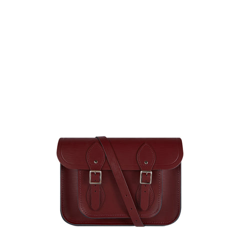 11 Inch Satchel in Leather - Oxblood 1914 Grain