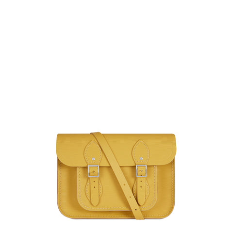 11 Inch Satchel in Leather - Indian Yellow 1914 Grain