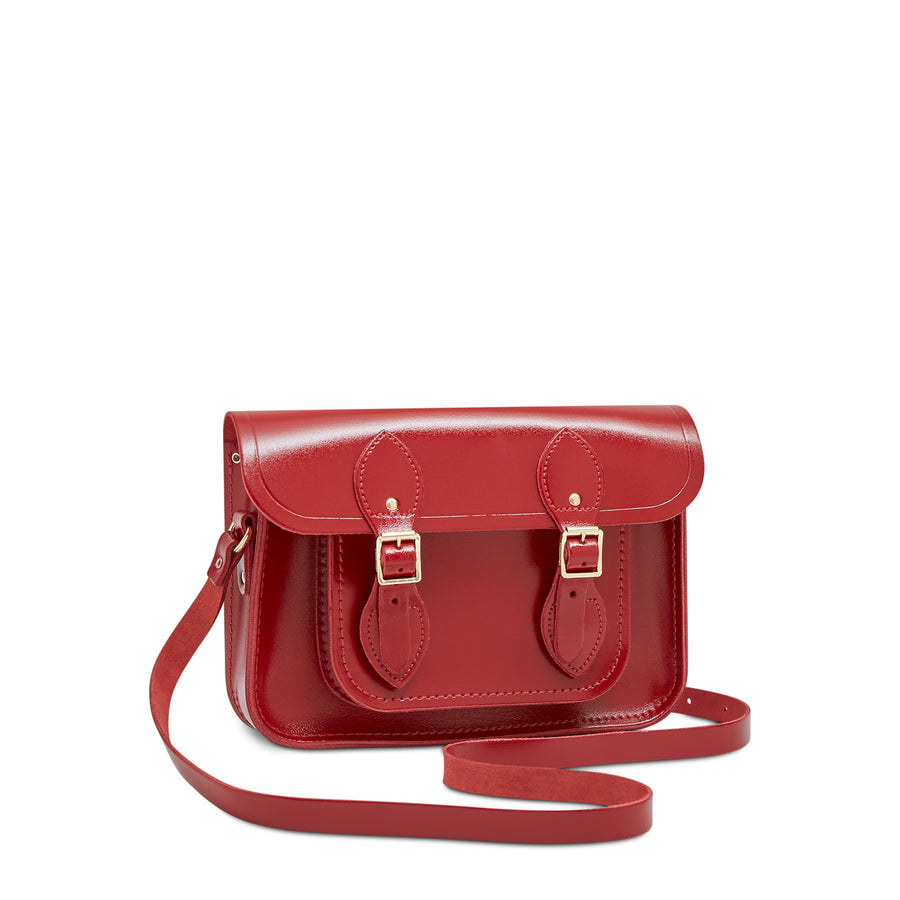 11 inch Magnetic Satchel in Leather - Glamour