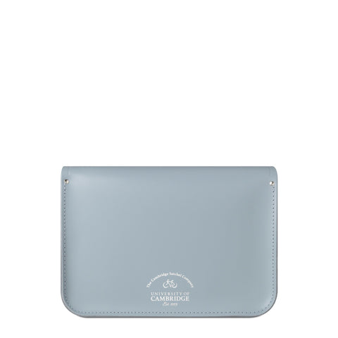 University of Cambridge 13 Inch Magnetic Satchel in Leather - French Grey - Cambridge Satchel