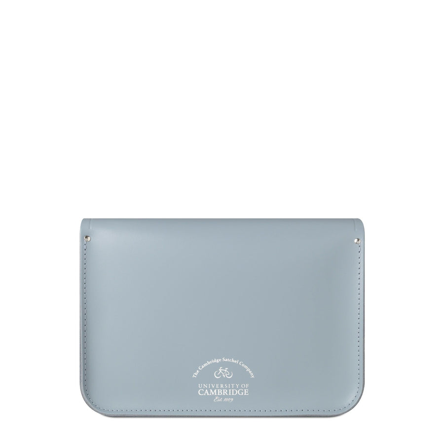 University of Cambridge 13 Inch Magnetic Satchel in Leather - French Grey