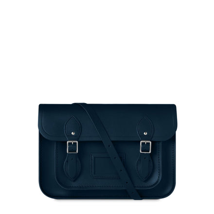 13 inch Magnetic Satchel in Leather - Navy