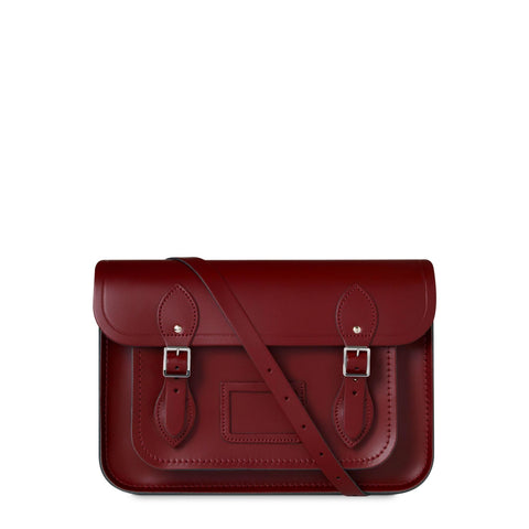 13 inch Classic Satchel in Leather - Red