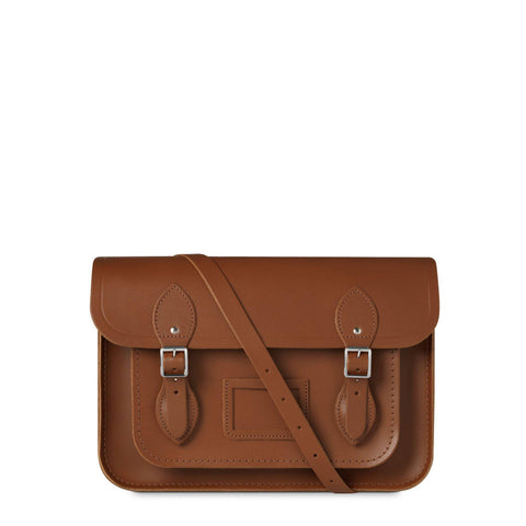 13 inch Classic Satchel in Leather - Vintage