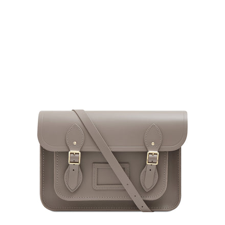 13 inch Magnetic Satchel in Leather - Mink