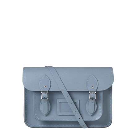French Grey Cambridge Satchel Large Leather Satchel Bag
