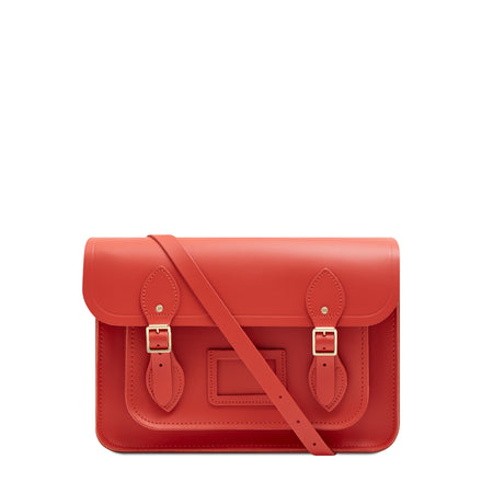 13 Inch Magnetic Satchel in Leather - Spice
