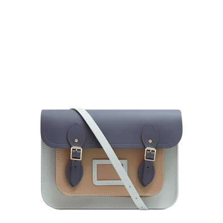 13 inch Magnetic Satchel in Leather - Storm Matte, Sea Foam Matte & Sandstone | Unisex Leather Satchel