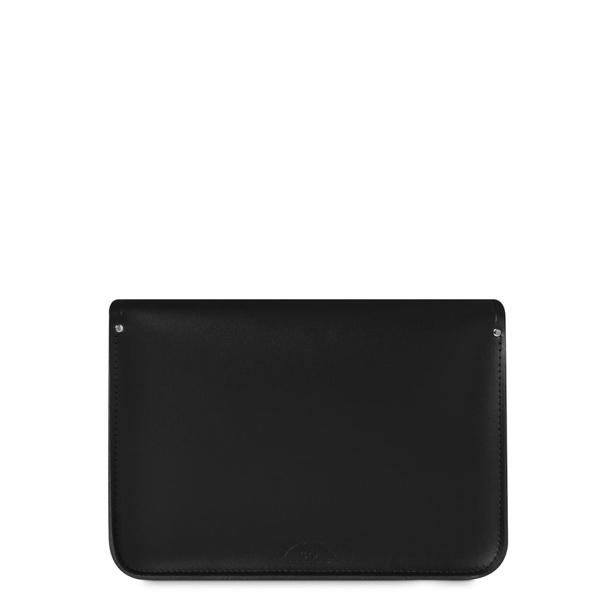 14 Inch Magnetic Satchel in Leather - Black - Cambridge Satchel
