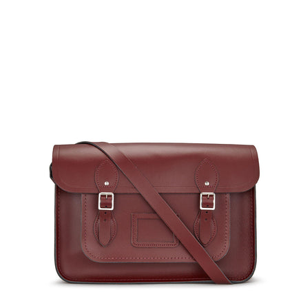 14 inch Satchel in Leather - Oxblood - Cambridge Satchel