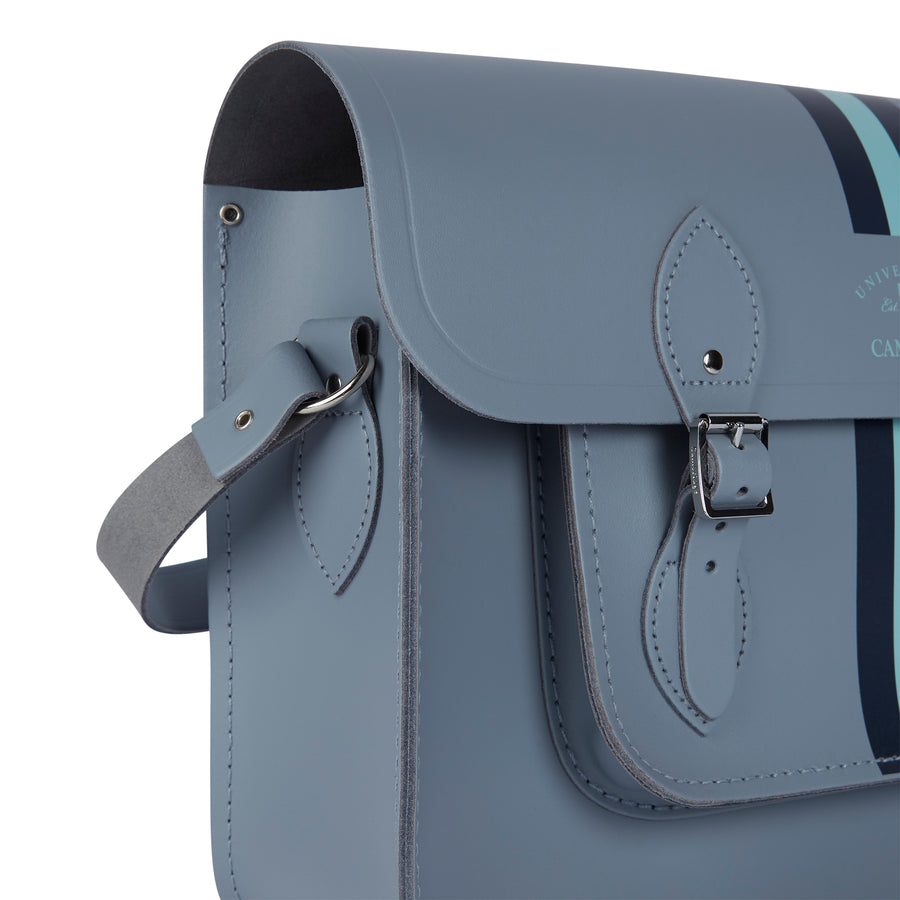 15 Inch University of Cambridge Satchel in Leather - French Grey - Cambridge Satchel